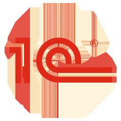 Логотип -системы 1С:Электронное обучение. Корпоративный университет