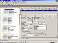 Список оборудования в программной системе для ТОиР AMOS Maintenance and Procurement