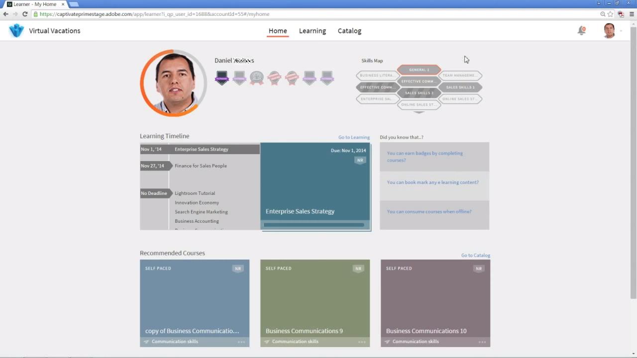 Профиль компетенций в LMS-системе Adobe Captivate Prime