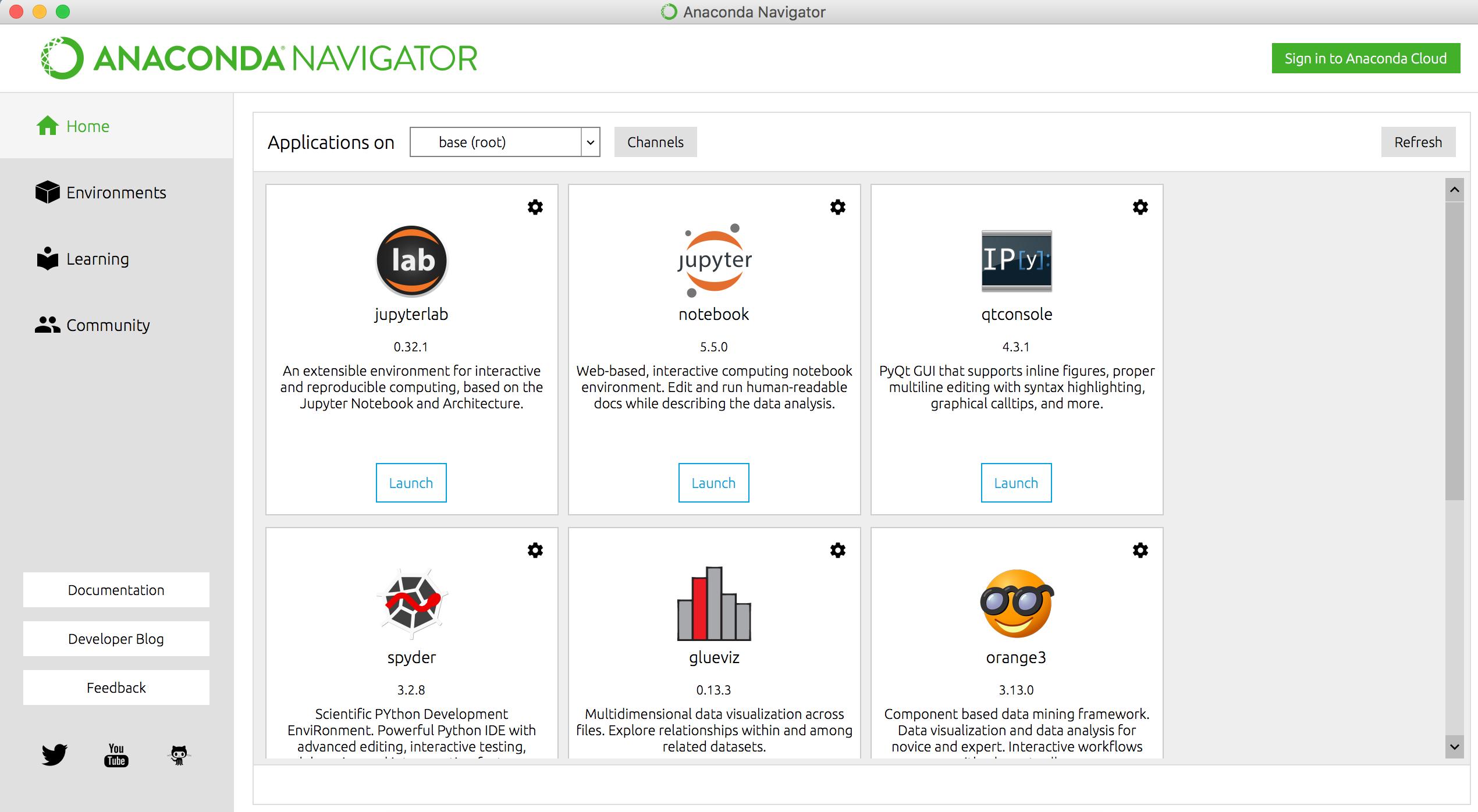 Выбор аналитических инструментов и приложений в программной платформе Anaconda