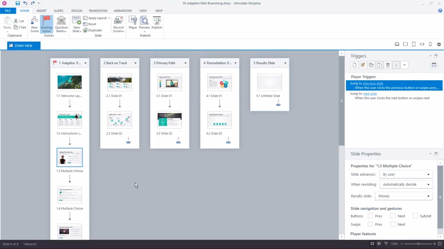 Разработка схемы учебного задания в образовательном программном обеспечении Articulate Storyline 360