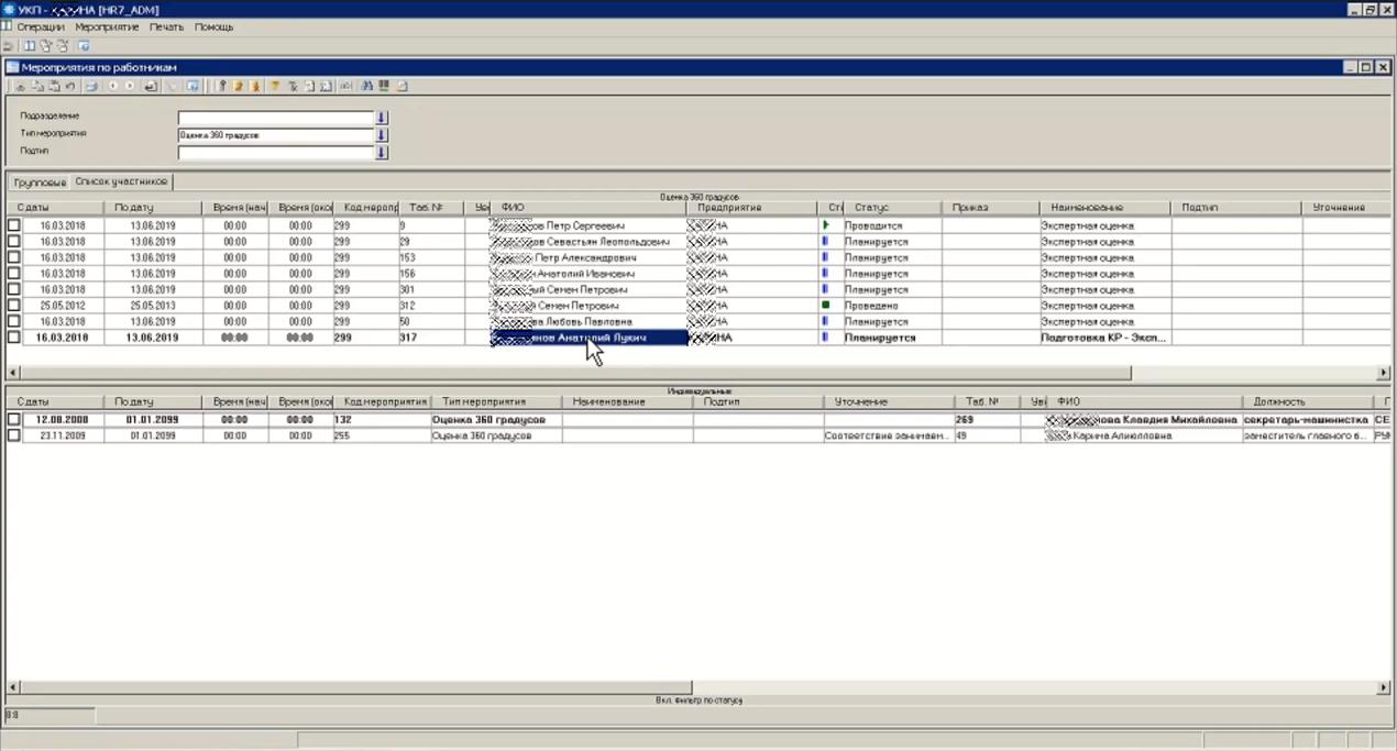 Планирование мероприятий по контролю и развитию компетенций в HRM-системе БОСС-Кадровик