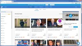 Просмотр информационных трендов в виде агрерированной новостной ленты в медиа-системе BuzzSumo