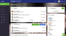 Информационная панель в системе управления персоналом CakeHR