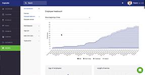 Отчёт о штатной численности персонала в компании в HRM-сервисе CakeHR