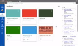Информационная панель в системе управления обучением Canvas