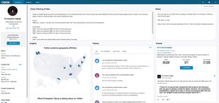 Просмотр медиа-профиля автора в системе аналитики СМИ Cision Communications Cloud