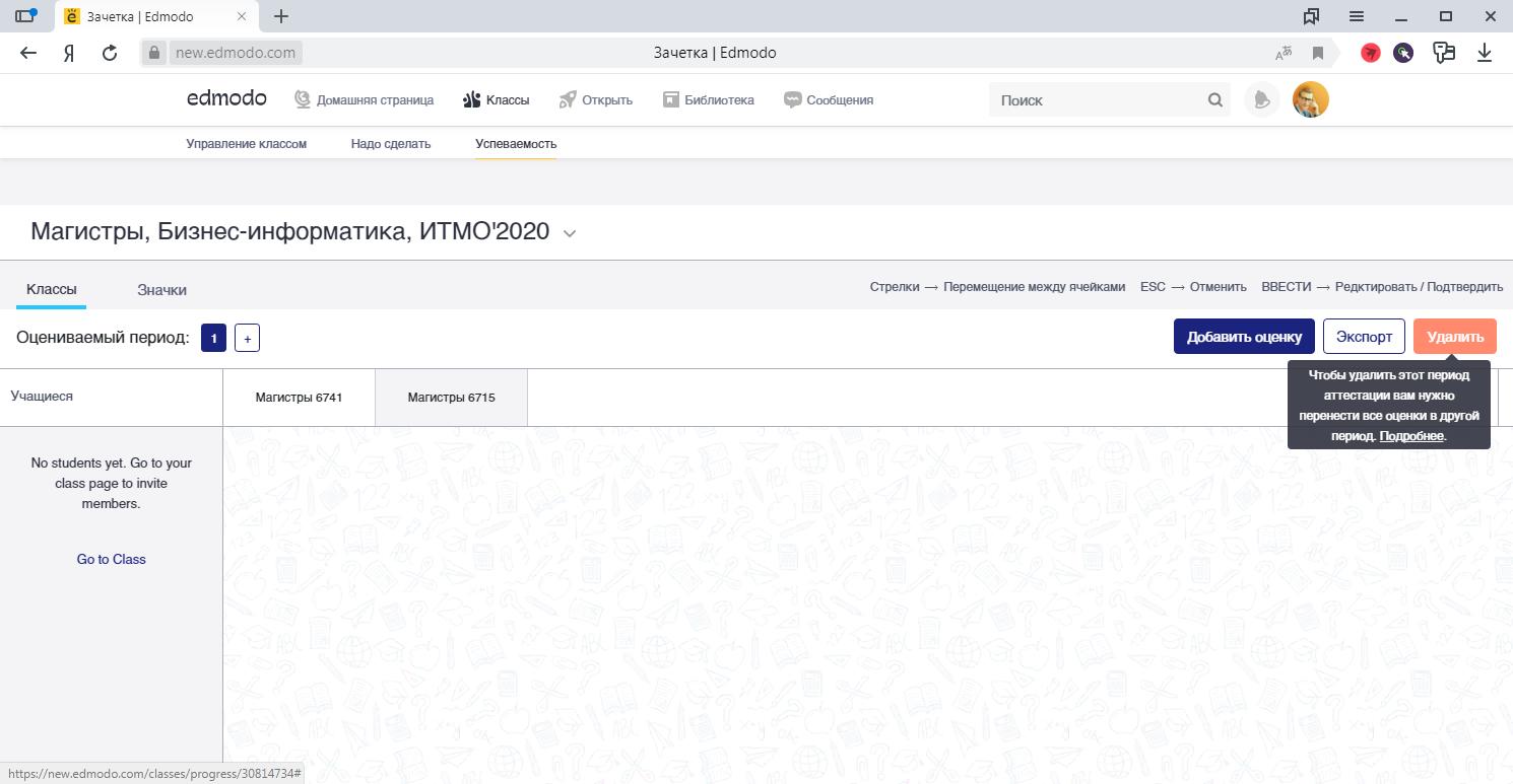 Управление успеваемостью в образовательной социальной сети Edmodo