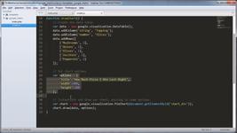 Программирование скрипта для формирования диаграммы на базе аналитической платформы Гугл Чартс