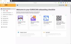 Главная страница в интернет-сервисе управления онлайн-школами Gurucan