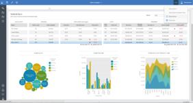 Детальные данные по команде продаж в аналитическом онлайн-сервисе ИБМ Когнос Аналитика