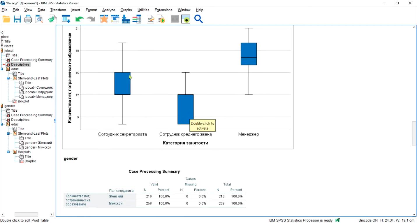 Визуализация данных и просмотр диаграммы в программе статистических исследований IBM SPSS Statistics