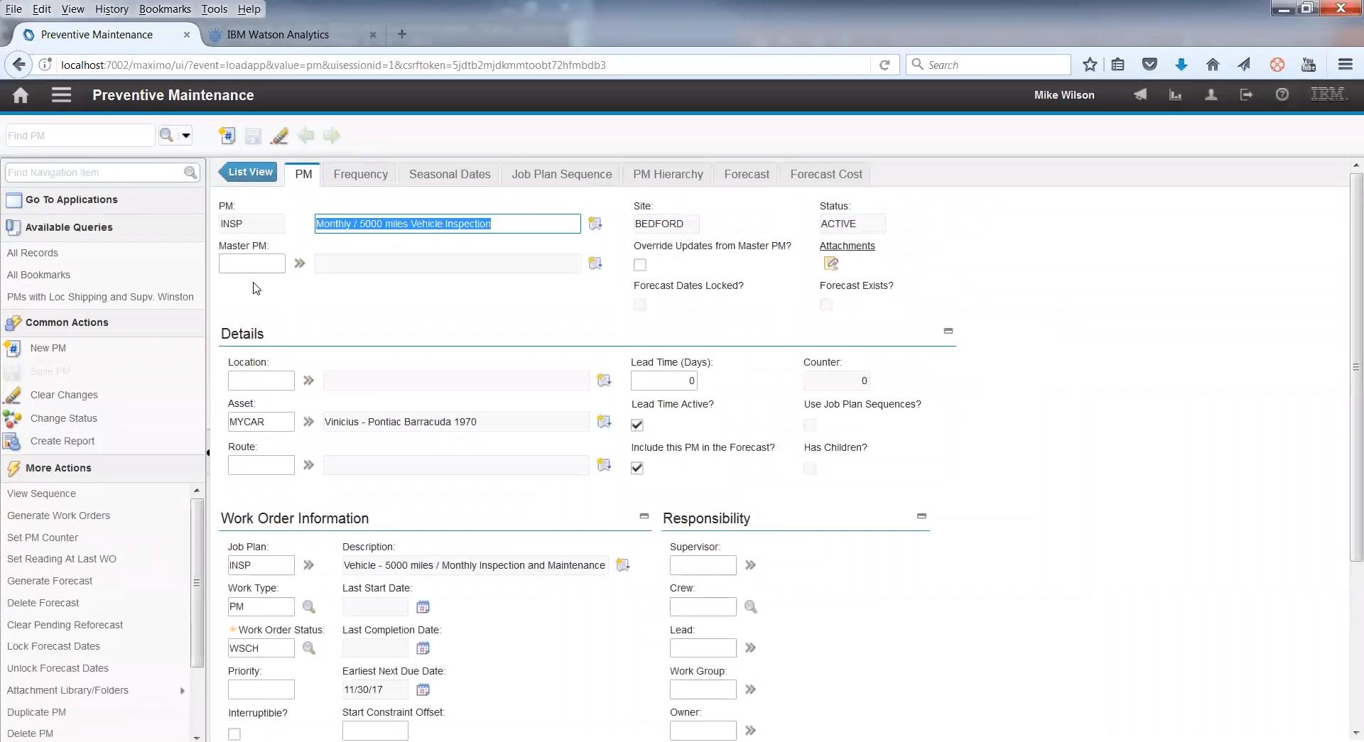 План предварительного технического обслуживания и ремонта (ППТО и ППР) в программе IBM Maximo