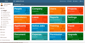 Информационная панель в бесплатной системе управления персоналом IceHrm