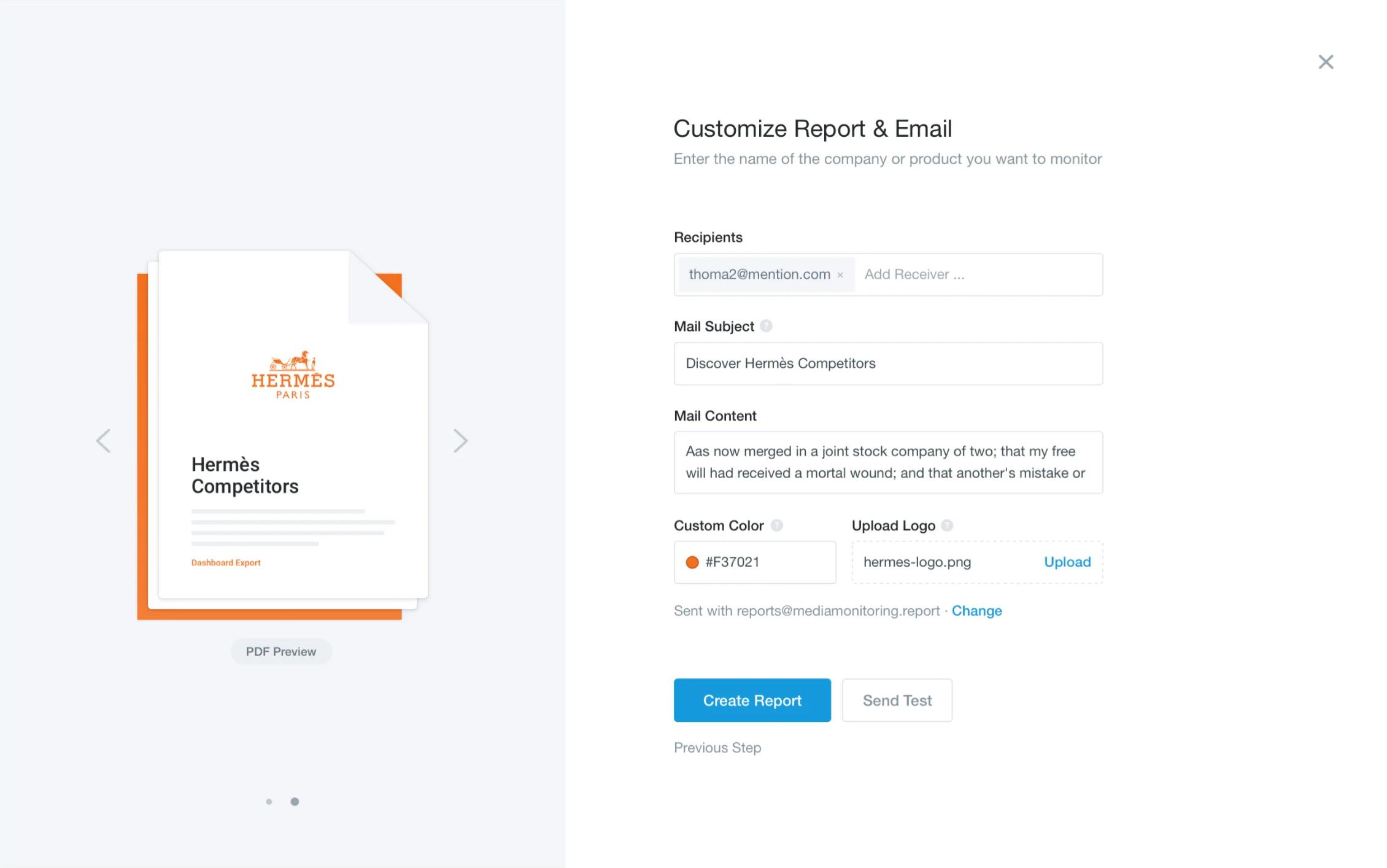 Подготовка аналитического отчёта в программном продукте для PR и интернет-маркетинга Mention