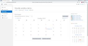 Учебный календарь в системе управления обучением (СУО, LMS) Мудл