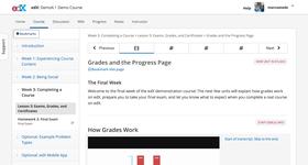 Просмотр учебного курса в  в системе дистанционного обучения (СДО) Open edX