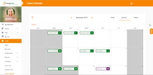 Календарь отпусков в HRM-системе с открытым исходным кодом OrangeHRM