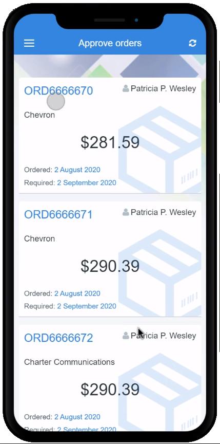 Пример мобильного приложения на базе программной платформы OutSystems