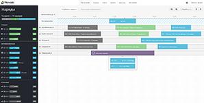 Расписание работ в системе управления выездными сотрудниками Планадо