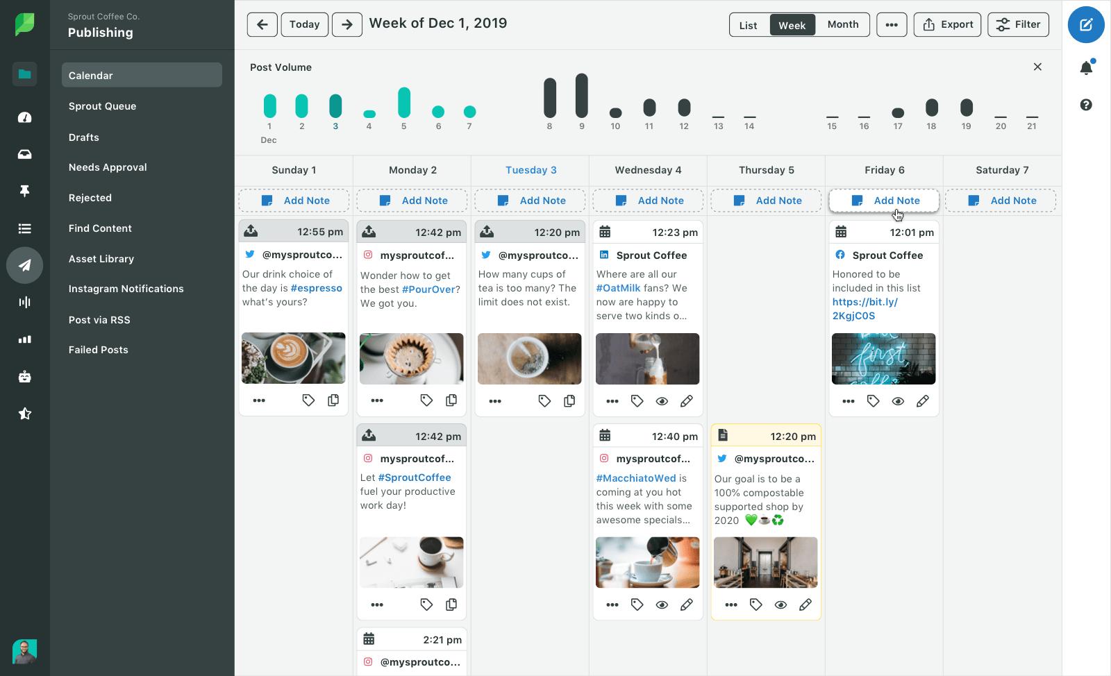Планирование постов и публикаций в программном продукте для социального маркетинга и PR Sprout Social