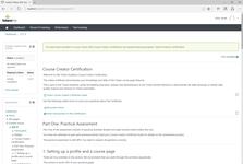 Просмотр информации по программе сертификации в системе управления обучением Totara Learn