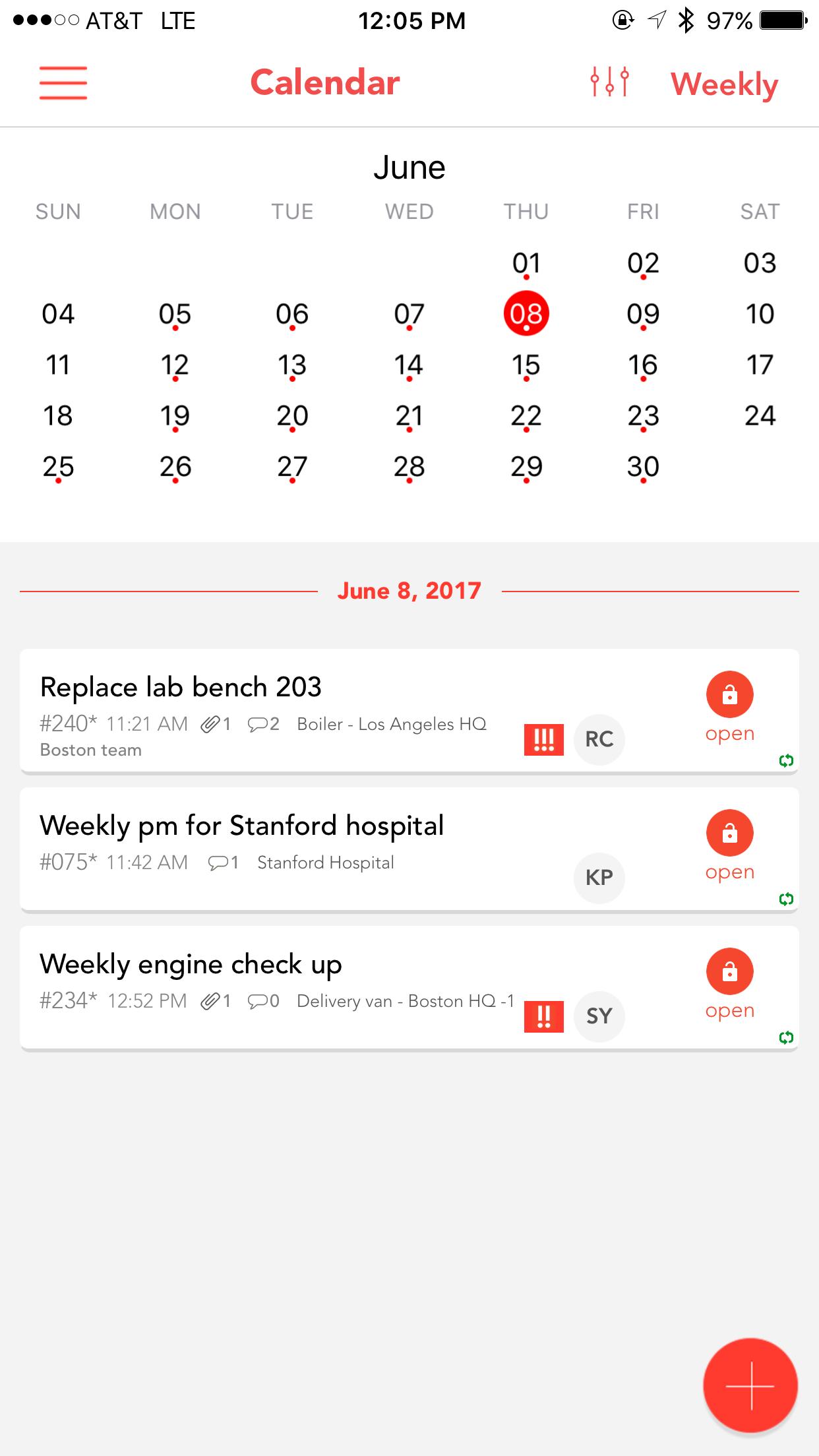 Рабочий календарь в системе управления техническим обслуживанием и ремонтом (СУ ТОИР) UpKeep