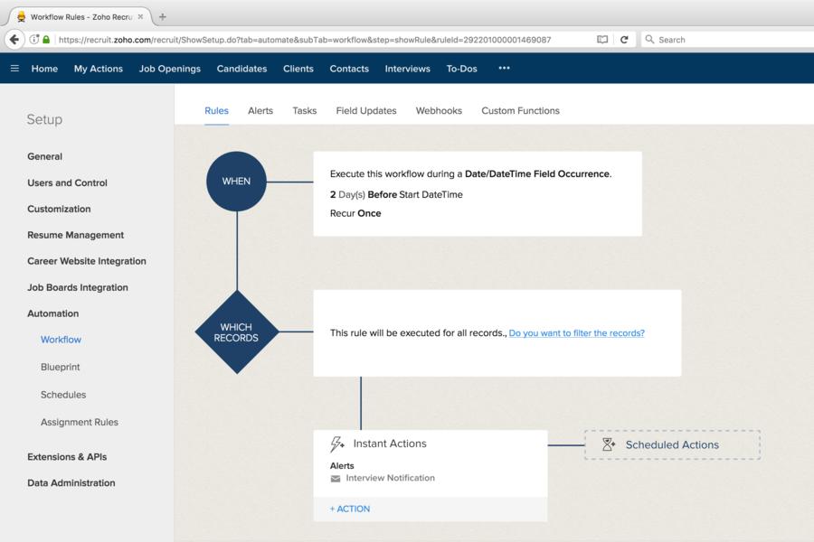 Автоматизация рекрутмента в интернет-сервисе Zoho Recruit от компании Zoho Corporation
